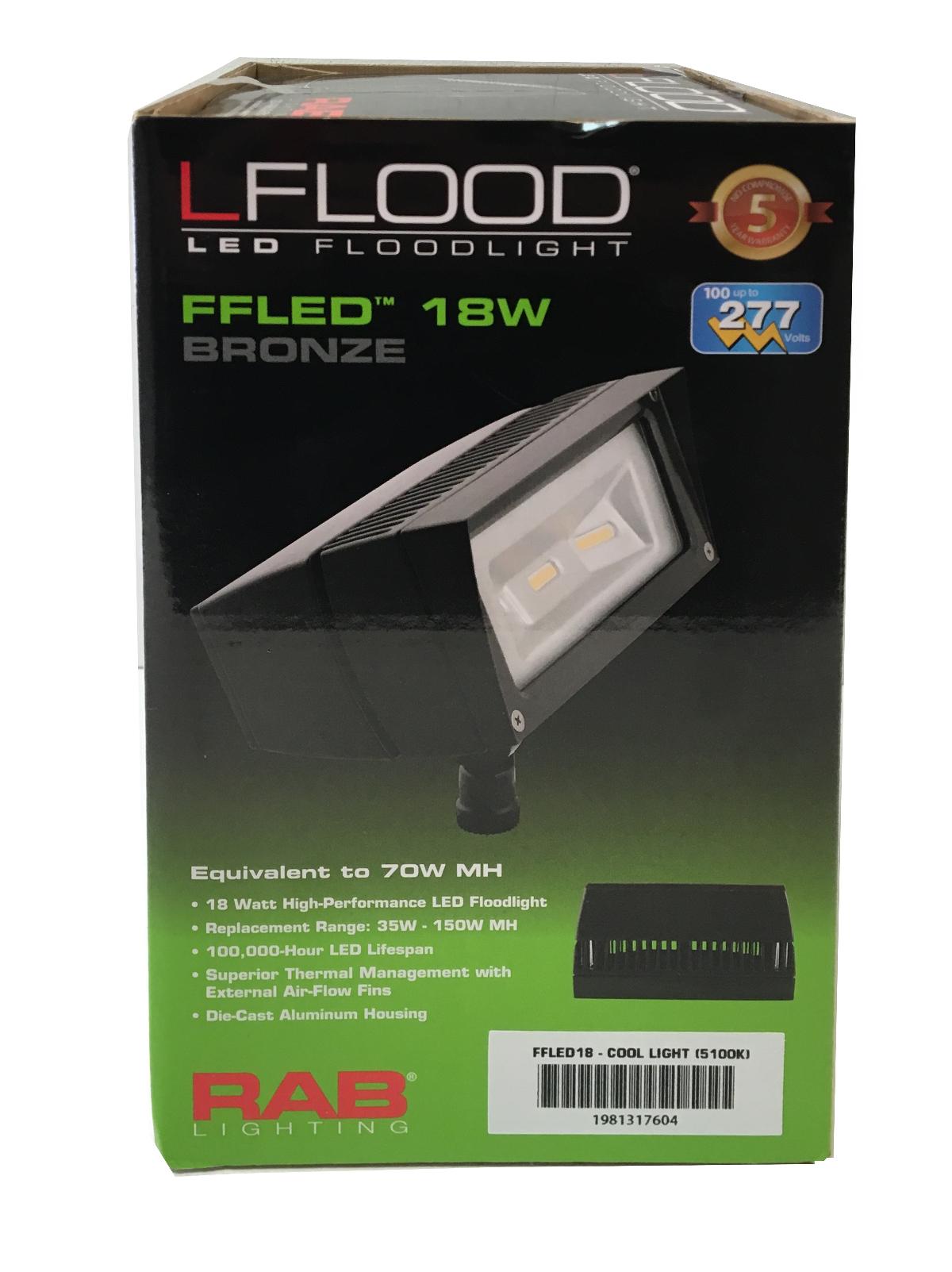 Rab Lighting Lights Ffled18 Lflood Led