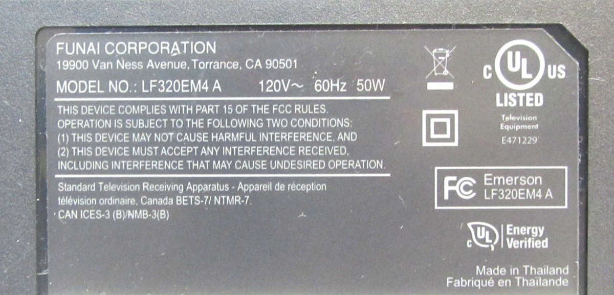 Emerson LCD LF320EM4