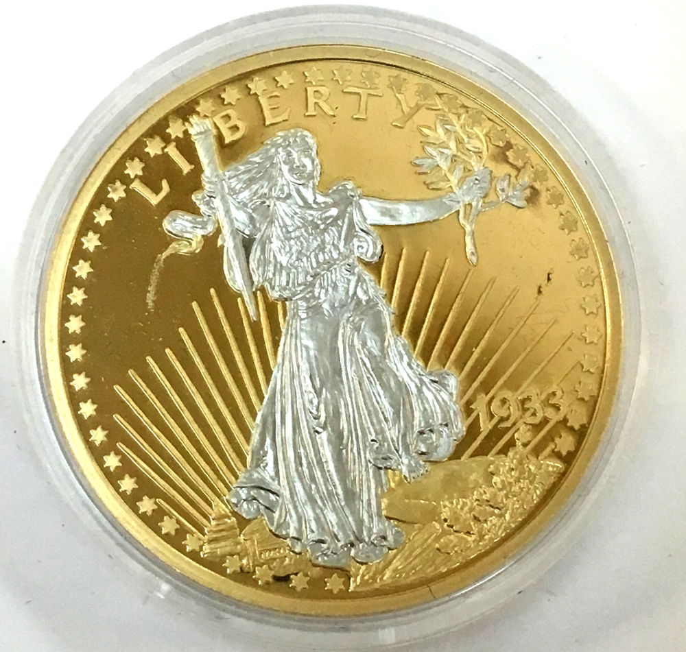 1933 Gold Double Eagle Replica 24k Layered American Mint Limited Edition
